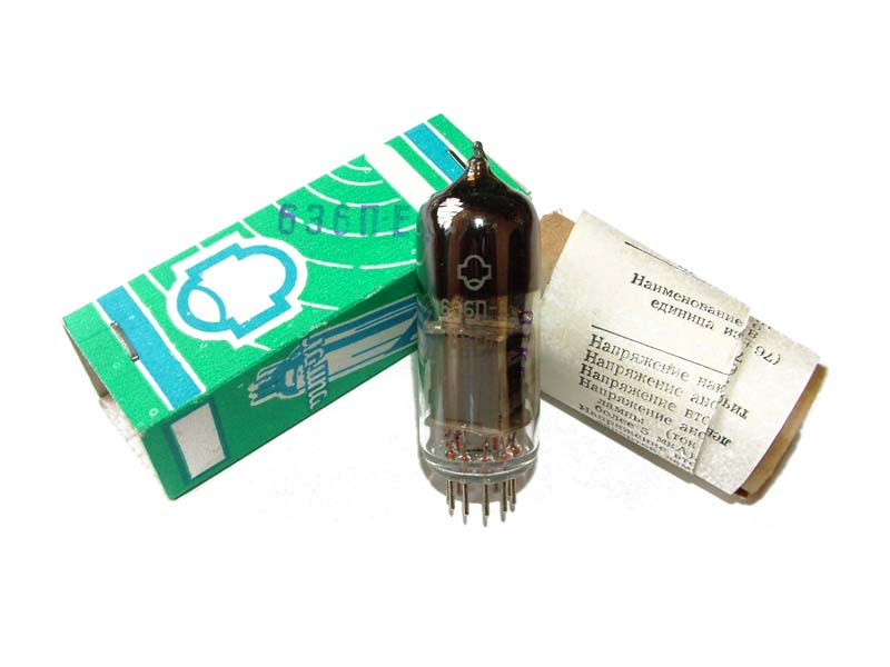 6E6P-E audiophile tetrode tube (original box)