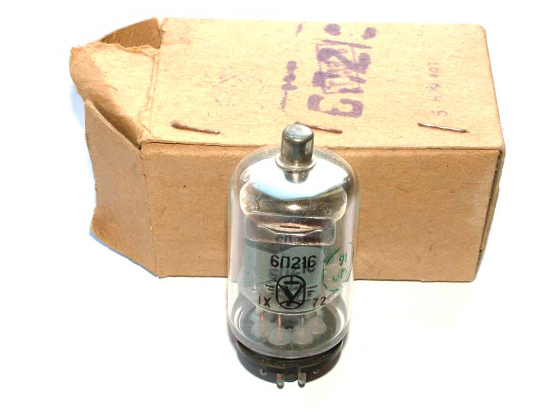 6P21S beam tetrode tube (original box)