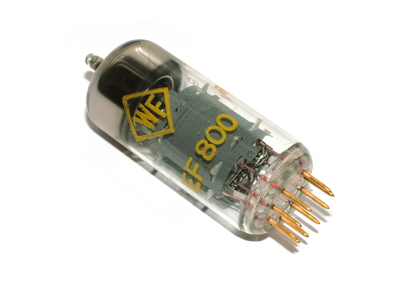EF800 / 6BX6 RFT gold pin tube