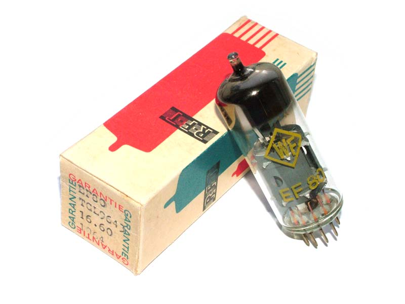 EF80 / 6BX6 RFT tube (original box)