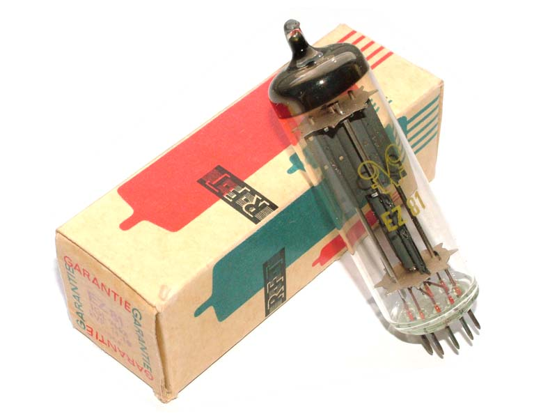 EZ81 / 6CA4 RFT rectifier tube (original box)