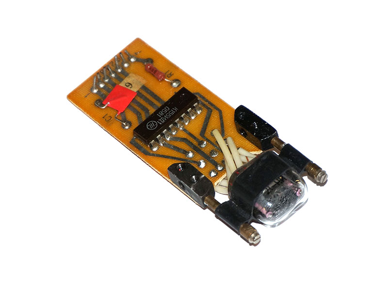 Single module IN-17 nixie tube + K155ID1 / 74141 driver