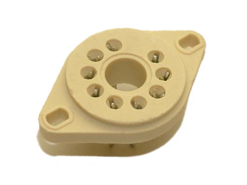 9 pin ceramic socket (B9D) for EL509 / 6KG6 / EL500 / 6P45S